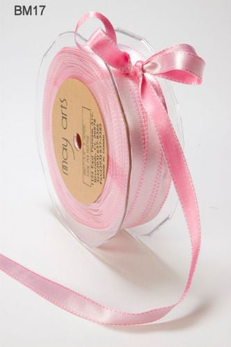 May Arts - 2-Tone Pink Satin Ribbon