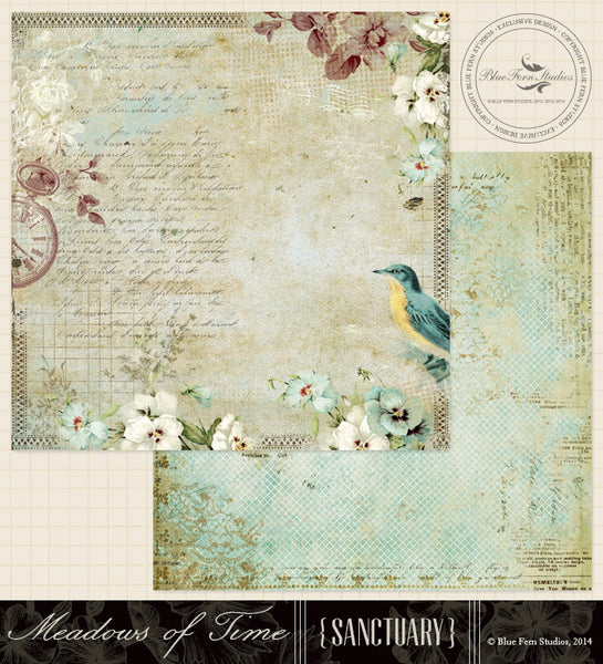 Blue Fern Studios Paper Collection - Sanctuary -  Meadows of Time