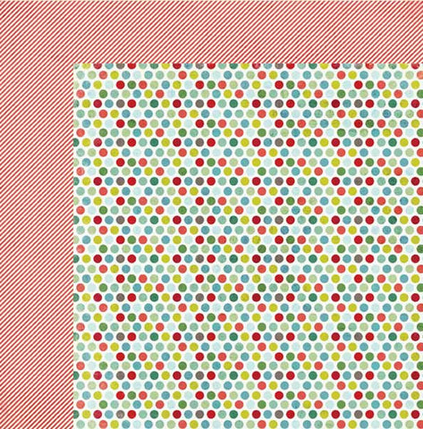 My Mind's Eye Paper Collection - Winter Wonderland  - Polka Dots Paper