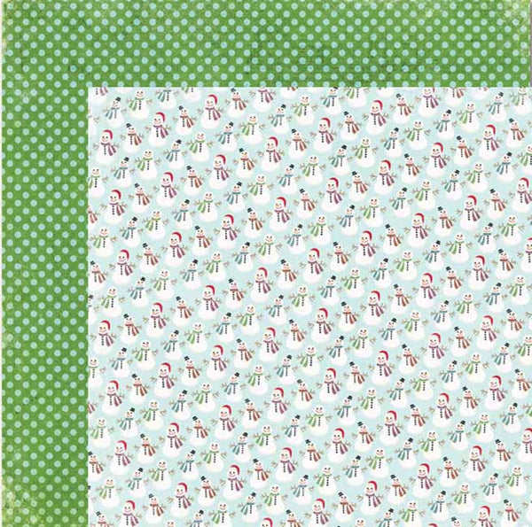 My Mind's Eye Paper Collection - Winter Wonderland  - Snowmen paper