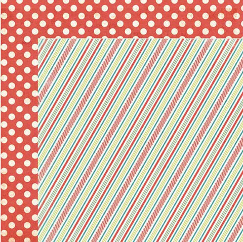 My Mind's Eye Paper Collection - Winter Wonderland  - Stripes Paper