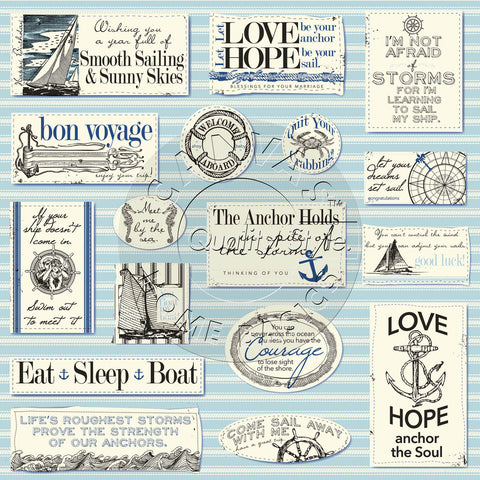 Canvas Corp Papers - Nautical Sayings