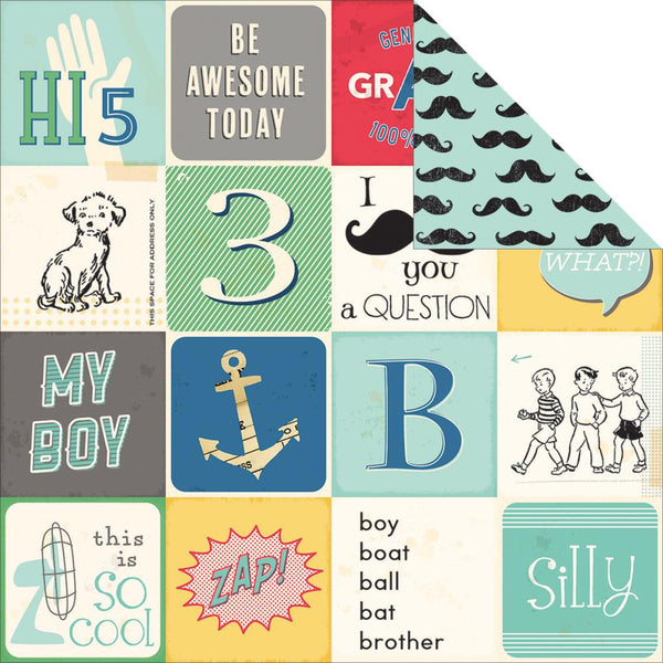 October Afternoon - All Boy Collection - Double Dog Dare Paper