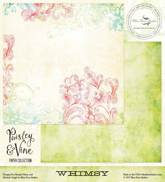 Blue Fern Studios Paper Collection - Paisley & Vine - Whimsy