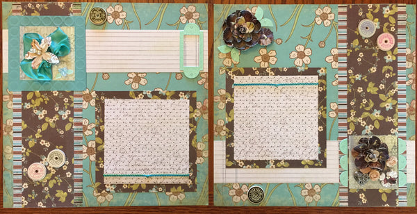 Fabulous florals Layout Kit - Becky Ayers