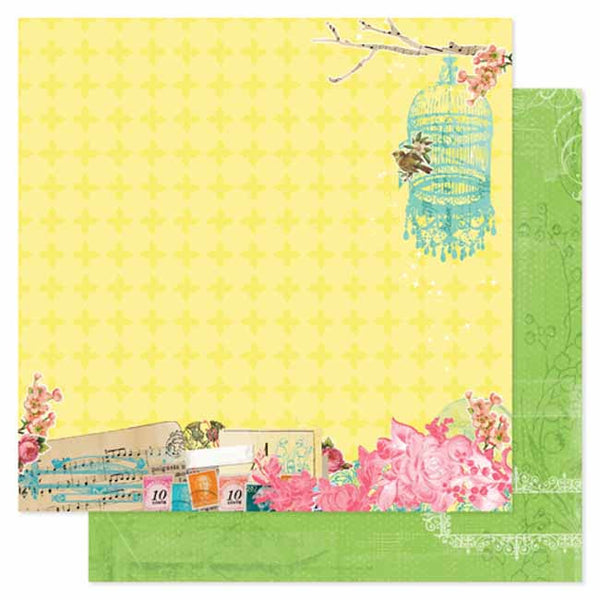 Pink Paislee Paper Collection - Spring Jubilee - Bash Paper