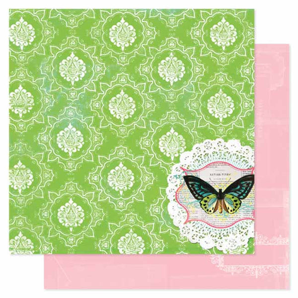 Pink Paislee Paper Collection - Spring Jubilee - Festival Paper