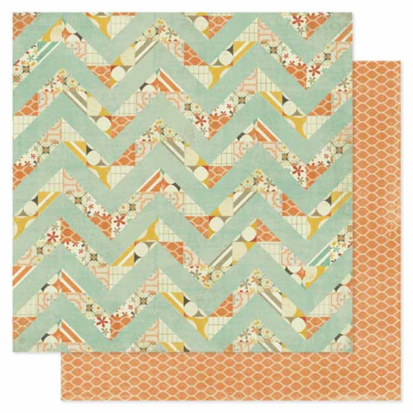 Pink Paislee - Prairie Hill - Flight Pattern Paper