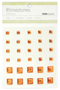 Kaiser Craft - Rhinestone Squares Orange