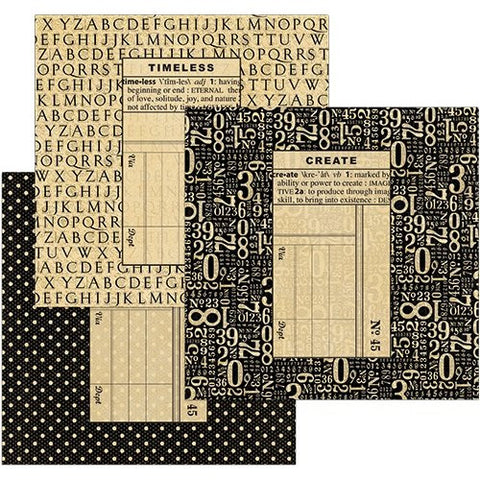 Graphic 45  Square black Policy envelopes
