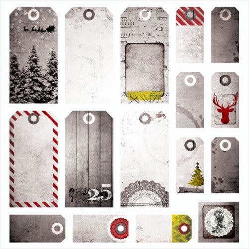 7 Dots Studio Paper Collection - Yuletide - Tags