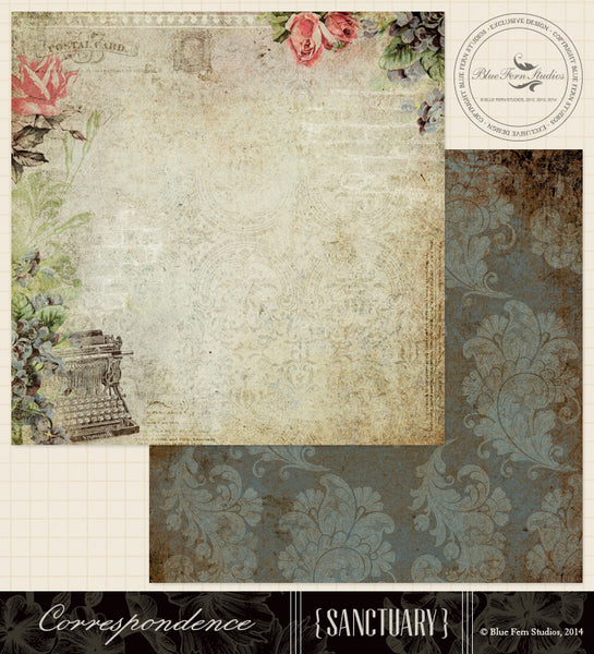 Blue Fern Studios Paper Collection - Sanctuary -  Correspondence