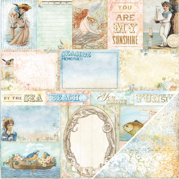 Blue Fern Studio - Seaside Cottage Double-Sided - calling cards