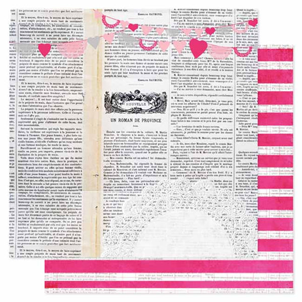 Pink Paislee - Secret Crush - Love Notes Paper