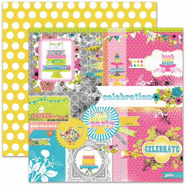 Pink Paislee - Soiree - Collage Paper