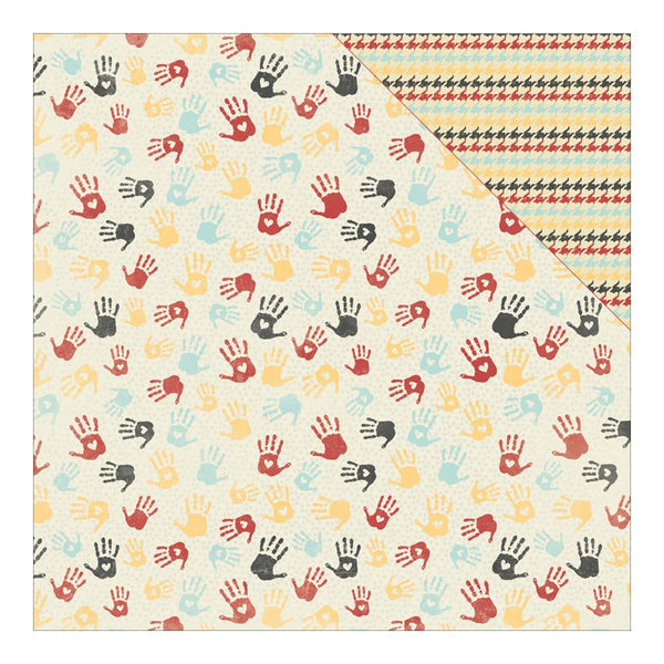 Authentique - Studious Collection Three- Handprints hounds tooth