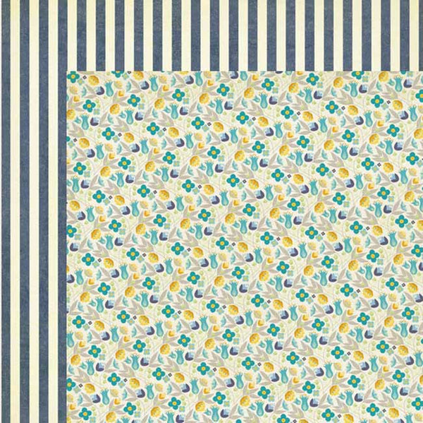 My Mind's Eye Paper Collection - Blue Bell - Every Day Garden paper