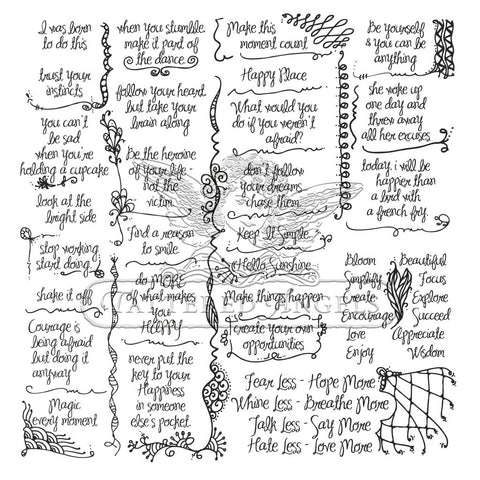 Canvas Corp Papers - Tattered Tangles - Quotes