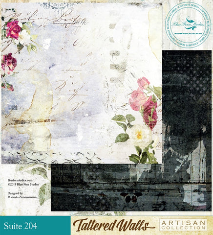 Blue Fern Studio Paper - Tattered Walls - Suite 204