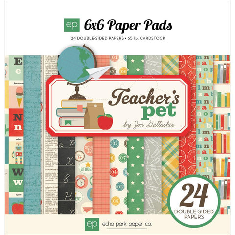 "Echo Park Teachers Pet Double-Sided Paper Pad 6""X6"""