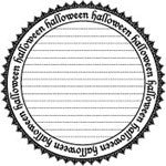 Teresa Collins - Halloween Circle Cling Mount Rubber Stamp