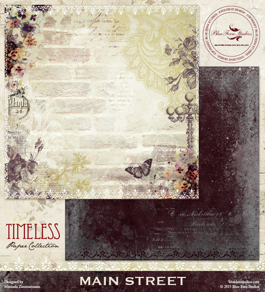 Blue Fern Studios Paper Collection - Timeless -   Mainstreet