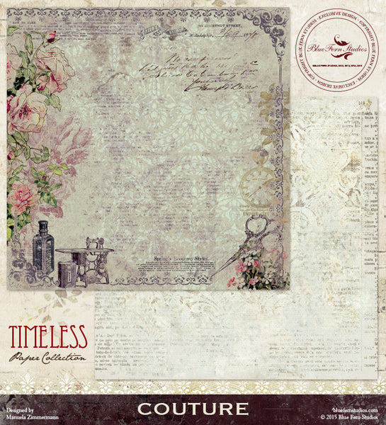 Blue Fern Studios Paper Collection - Timeless -   Couture