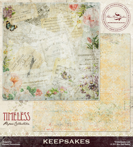 Blue Fern Studios Paper Collection - Timeless -   Keepsakes