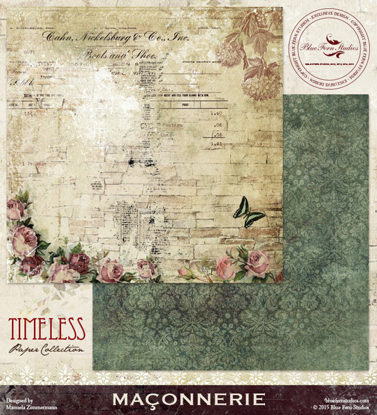 Blue Fern Studios Paper Collection - Timeless -  Maconnerie