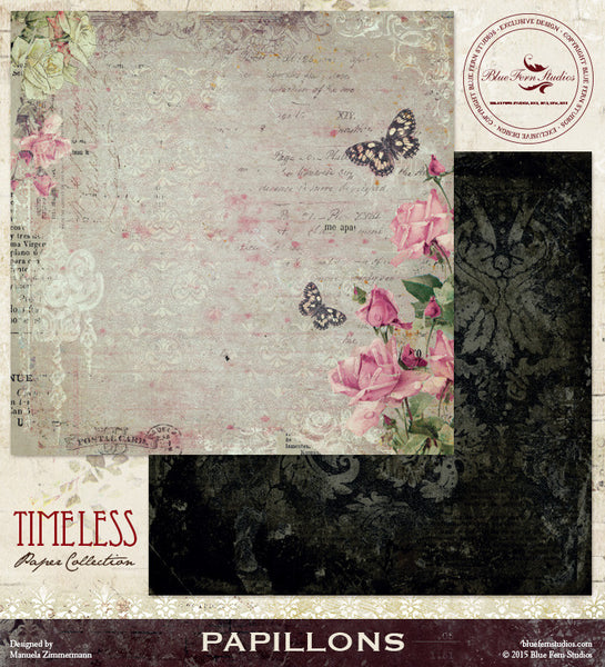 Blue Fern Studios Paper Collection - Timeless -  Papillons