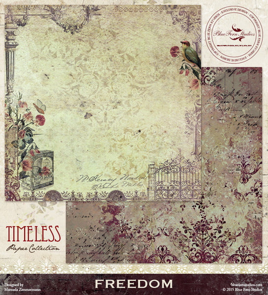 Blue Fern Studios Paper Collection - Timeless -   Freedom