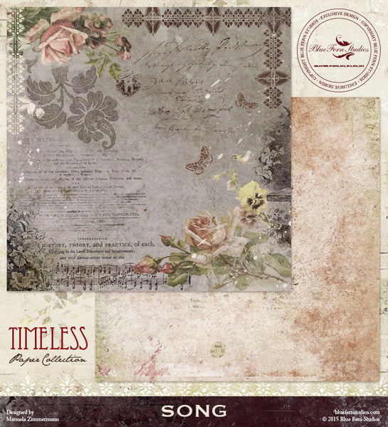 Blue Fern Studios Paper Collection - Timeless -  Song
