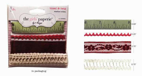 The Girls Paperie Paper Collection - Tinsel & Twig - Trim Card