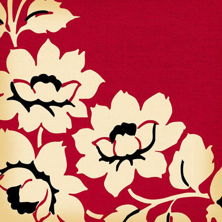 Jenni Bowlin Paper Collection - Vintage - Red Floral Paper