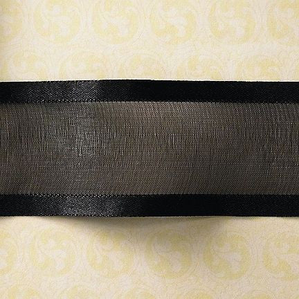 Webster's Pages - Sheer Black with Edging Trim