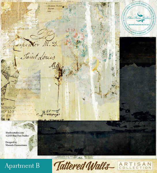 Blue Fern Studio Paper - Tattered Walls - Apt.B