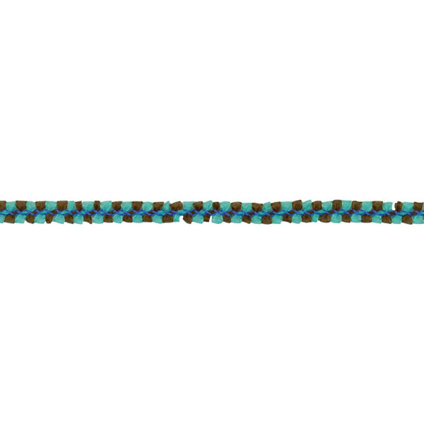 Mayart Sheer braid aqua/brown trim