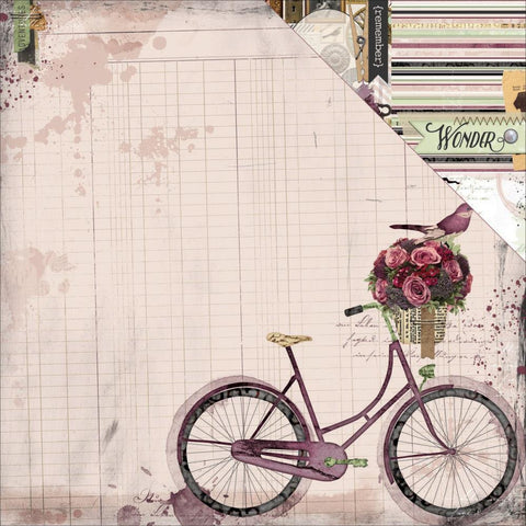Bo Bunny Press - Beautiful Dreamer - Bicycle Paper