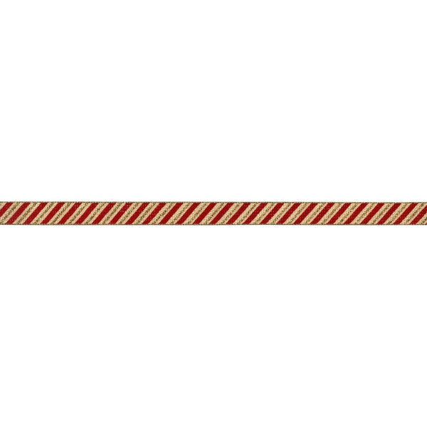 Red/Gold-May Arts Candy Cane Ribbon