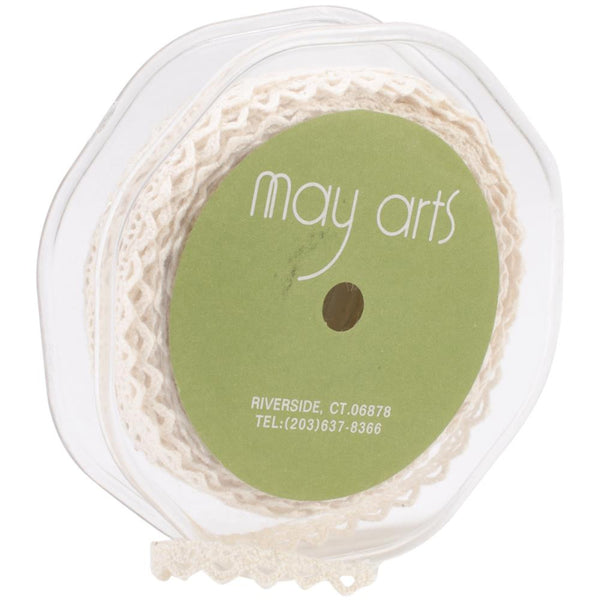 May Arts Crochet Lace Trim - Natural