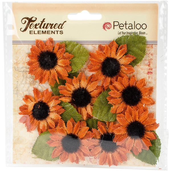 Petaloo Textured Elements Canvas mini sunflower