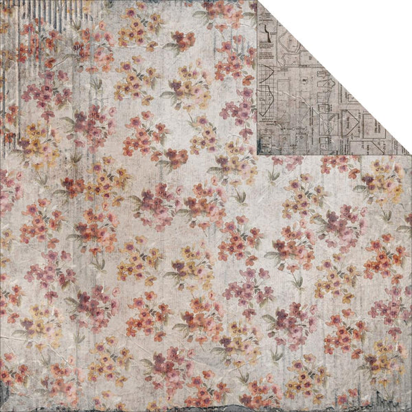 Fab Scraps Oh! Sew Beautiful - Floral Pattern -Double sided paper