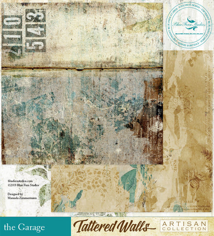 Blue Fern Studio Paper - Tattered Walls - Garage