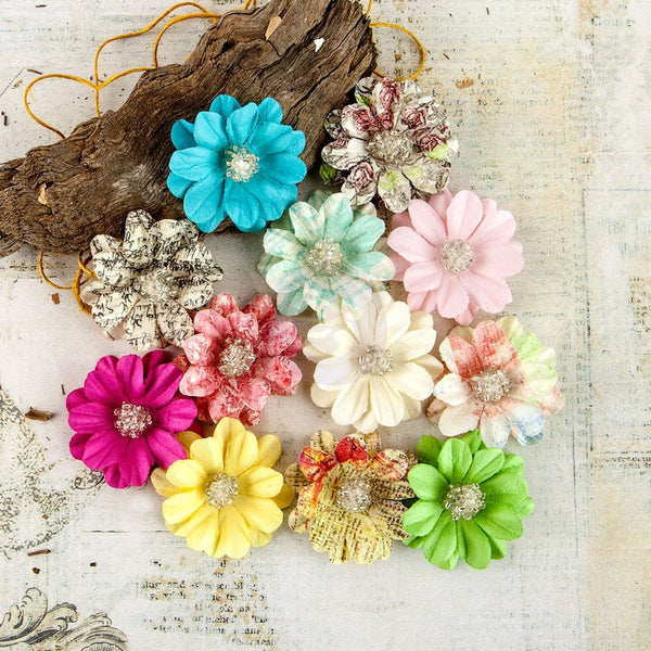Prima - Garden Fable Flower Embellishments - Everbloom