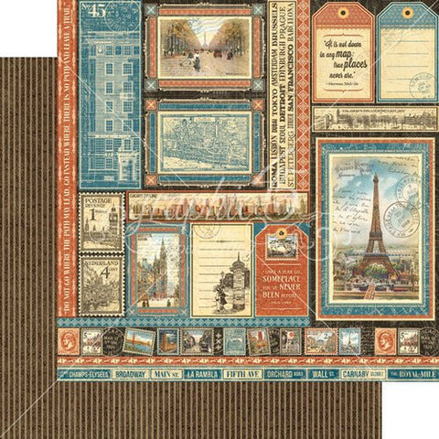 Graphic45  CityScape - Global Odyssey paper