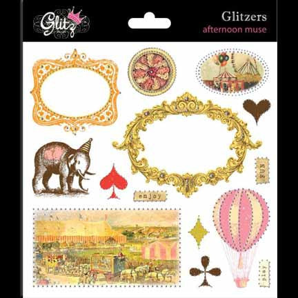 Glitz Design - Afternoon Muse - Glitzer Transparent Stickers
