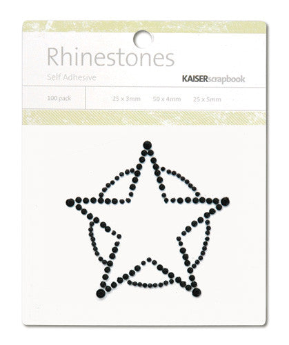 Kaiser Craft Rhinestones - Sheriff's Star - Black