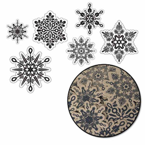 Maya Road - Let It Snow Kraft & Black Snowflakes