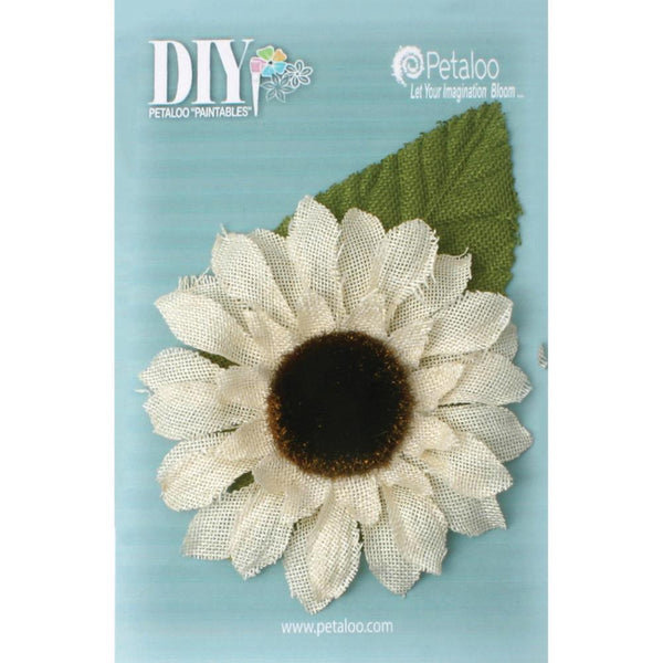 Petaloo DIY Paintables Giant Burlap Sunflower 5