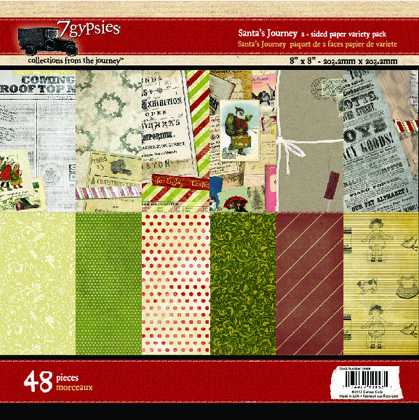 7 Gypsies Papers - Santas Journey Paper Pad